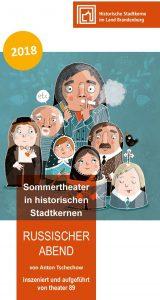 """Sommertheater im historischen Stadtkern: """"Russischer Abend"""" @ Ratshof am Wasserturm in Treuenbrietzen"""
