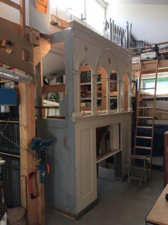 Orgel Hohenwerbig in Werkstatt Wilhelmshorst