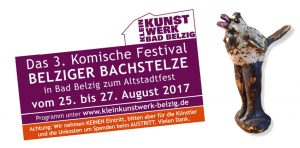 Das 4. Komische Festival Belziger Bachstelze / Herrentag @ KKW Kleinkunstwerk Bad Belzig