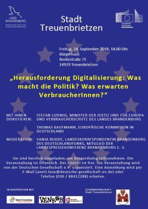 Herausforderung Digitalisierung: Was macht die Politik? Was erwarten VerbraucherInnen?