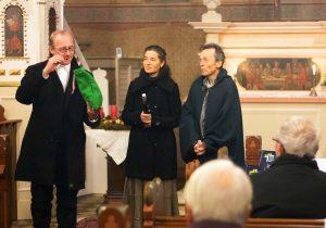 Daniel Geißler, Mirjam Meinhold, Wieland Meinhold; Kirche Garrey