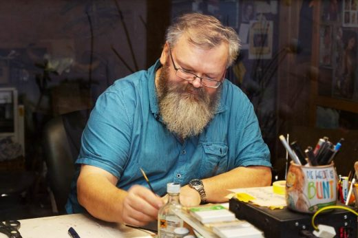 Uwe Schönefeldt, Görzke, Hinterglasmalerei