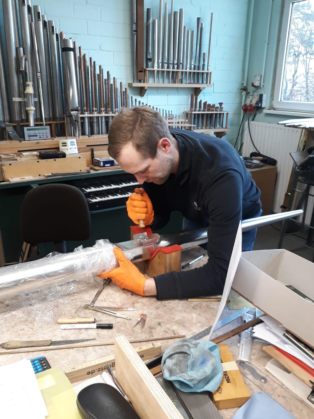 Orgelpfeifen Niemegk Werkstatt