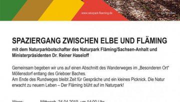 Naturpark Fläming Spaziergang 24.04.2019 A4 Poster