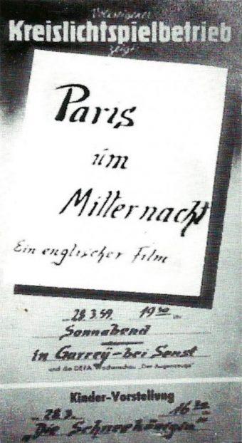 Plakat Paris Mitternacht