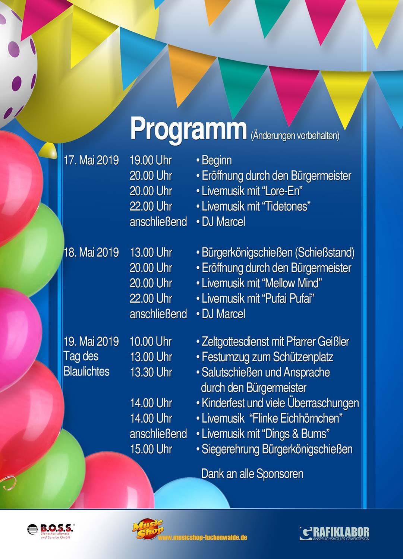 Niemegker Stadtfest 2019, Niemegk, Stadtfest