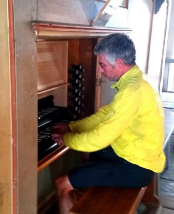 Orgel Niemegk Konzert Fahrradkantor2018