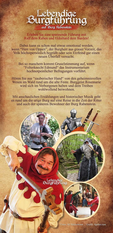 Lebendige Burgführung, Ralf der Rabe, Burg Rabenstein