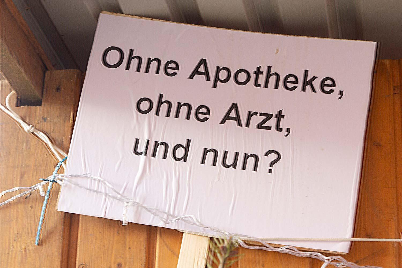 Weihnachtsmarkt, Niemegk, Protest, Ärztemangel