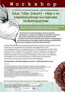 Acker. Teller. Zukunft – Wege in ein klimafreundliches und regionales Ernährungssystem @ Sensthof Reetz | Wiesenburg/Mark | Brandenburg | Deutschland
