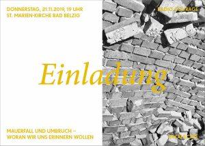 RADIO COURAGE ERZÄHLCAFÉ: Als vor 30 Jahren die Mauer in Potsdam-Mittelmark fiel @ St. Marien-Kirche Bad Belzig | Bad Belzig | Brandenburg | Deutschland