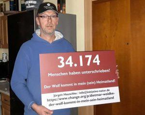 Jürgen Hauschke, Wolf, Petition, Der Wolf kommt in mein (sein) Heimatland!