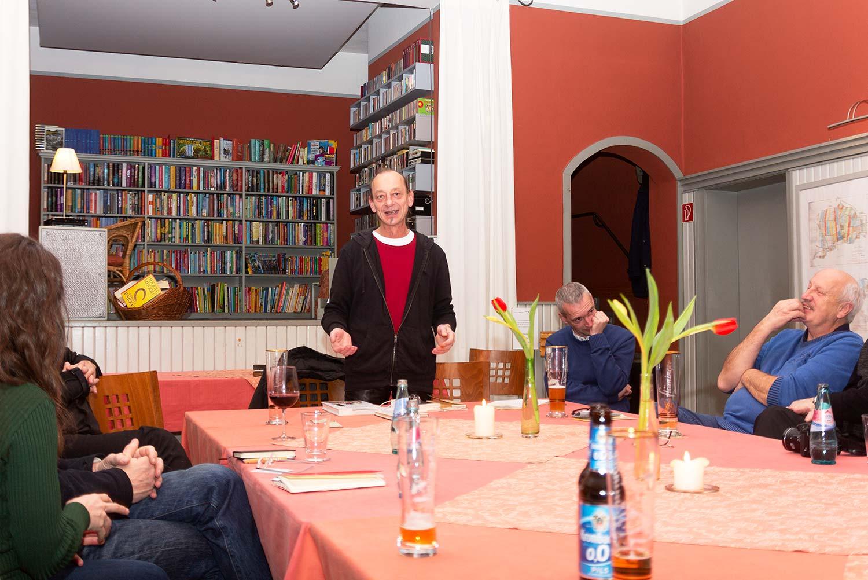 Siegfried Frenzel, Fläming Bibliothek, Rädigke, Rädigke, Theologischer Salon