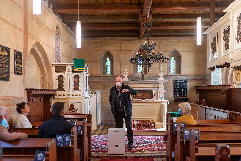 Wolfgang Lubitzsch, Kirche Garrey, Dörfertreffen, Garrey