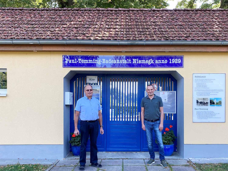 Paul-Temming Badeanstalt ,Niemegk, Hans-Joachim Linthe, Matthias Grund