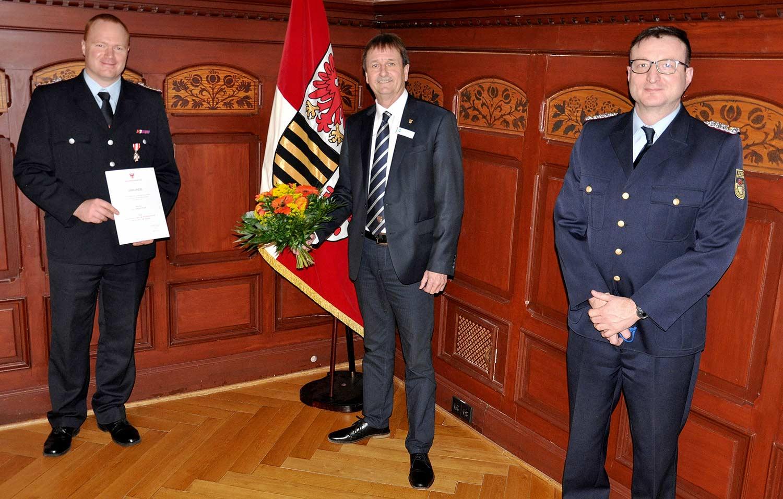 Christian Pude, Feuerwehr, Ehrenzeichen, Jens Heinze Christian Stein