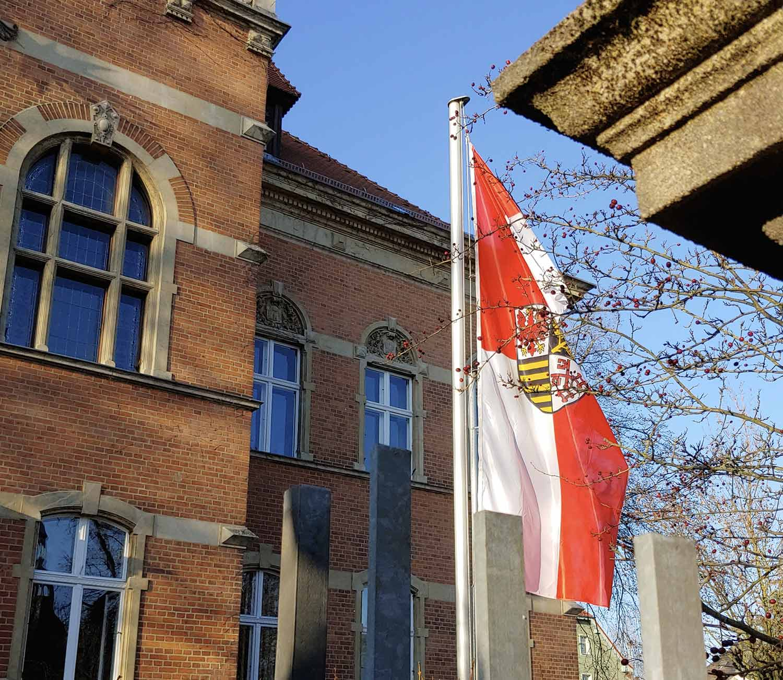 Flagge-zeigen