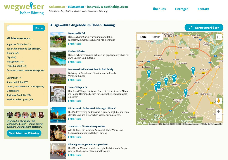 Wegweiser-Hoher-Flaeming-Webseite