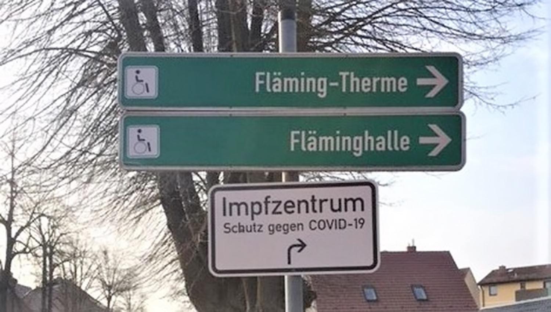 Teltow-Flaeming-Schild-Impfzentrum