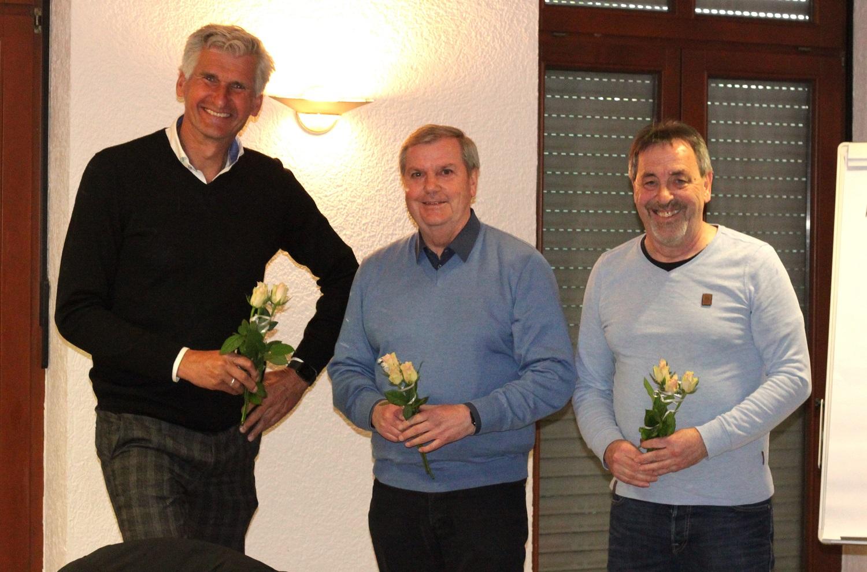 Vorstand Gerrit van Doorn, Dr. Manfred Heßler, Bernd Lüthke v.l.